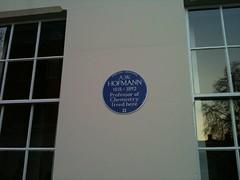 Photo of August Wilhelm von Hofmann blue plaque