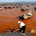 Sat, 21/04/2007 - 15:32 - Red tide in Xiamen, in China's Fujian Province, April 21, 2007. Red tides are nutrient-fueled blooms of phytoplankton (often dinoflagellates) that discolor water with their pigments. Several species are known to have toxic effects on marine life and pose a risk to human health through the consumption of exposed shellfish. Photo Credit: Asianewsphoto | Gu Liuzhang  (copyrighted)