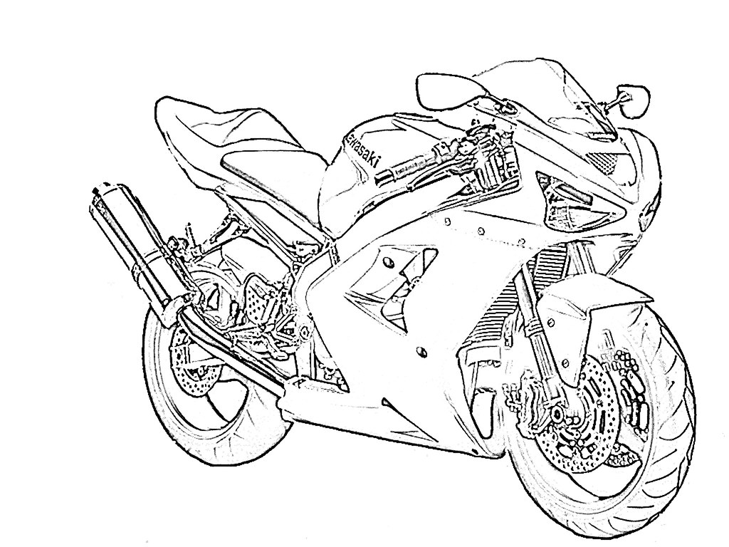 zx6r outline for coloring    - kawiforums