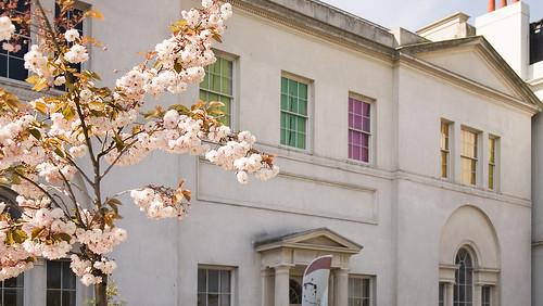Building Facade - Brian Eno Speaker Flowers Sound Installation at Marlborough House