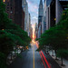 Manhattanhenge from 42nd Street, New York City