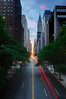 Manhattanhenge from 42nd Street, New York City by andrew c mace