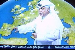 Weather report on Al-Jazeera
