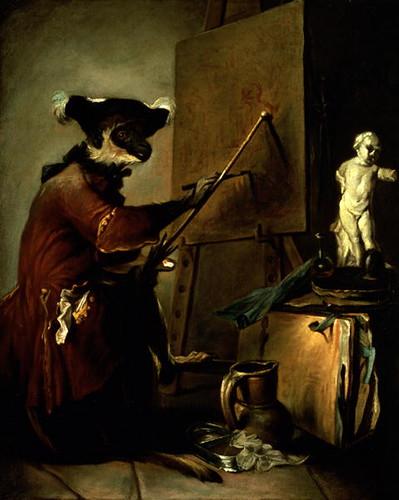 Jean-Baptiste Simeon Chardin, The Monkey Painter, 1740
