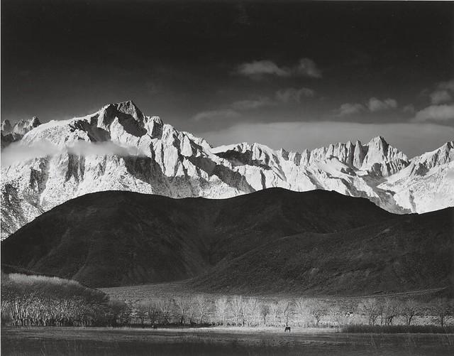 Original Print: Winter Sunrise From Lone Pine, Ansel Adams 1944