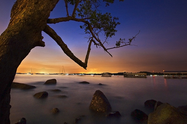 Singapore - Evening shot at Changi Boardwalk