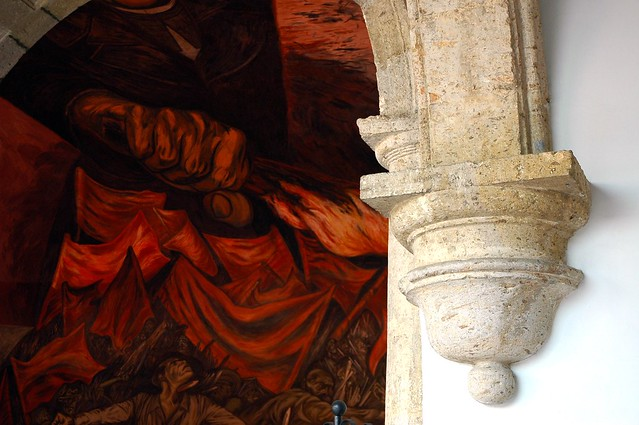 Architectural detail fist of fire jos clemente orozco m for Aviso de ocasion mural guadalajara