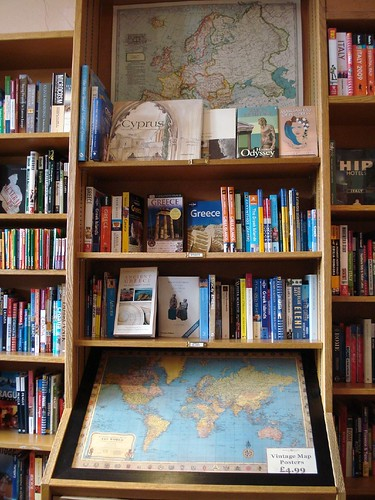 Maps and guidebooks at the Travel Bookshop