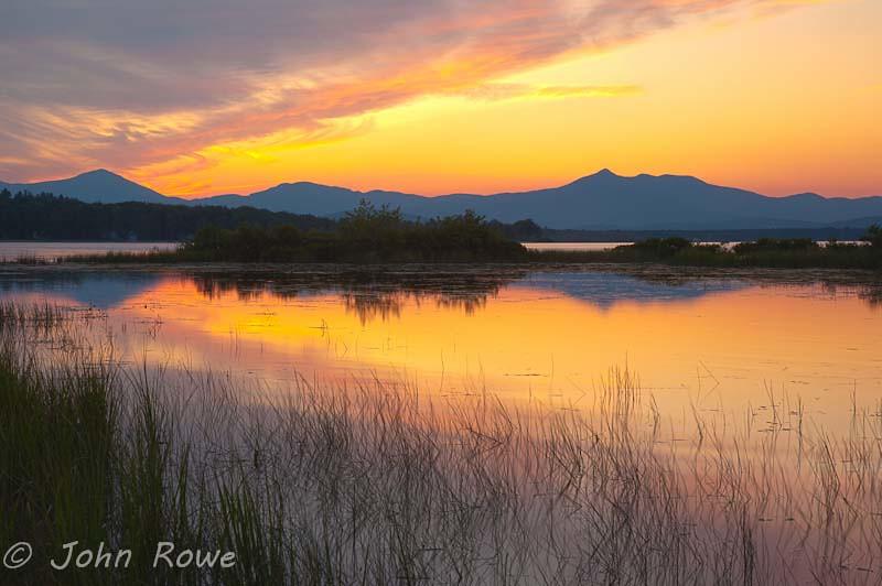 Ossipee Lake Nh Mt Chocorua Sunset From Ossipee Lake John Rowe