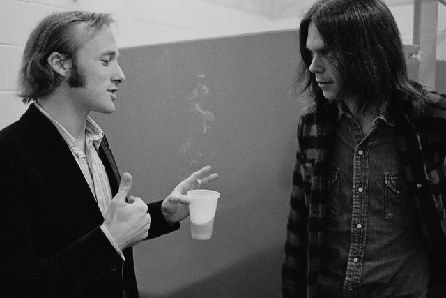 Stephen Stills and Neil Young, by Henry Diltz