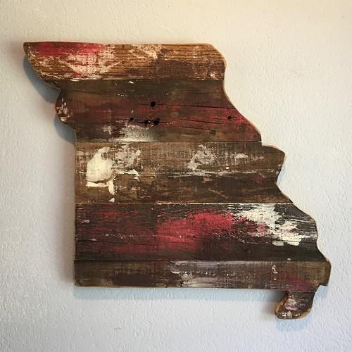 Missouri recycled wood silhouette.