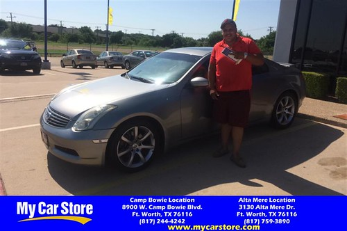 Happy Anniversary to Nicholas on your #Infiniti #G35 Coupe from Josh Pedroza at My Car Store!