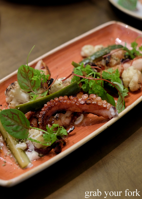 BBQ octopus at 1821 Greek restaurant in Sydney