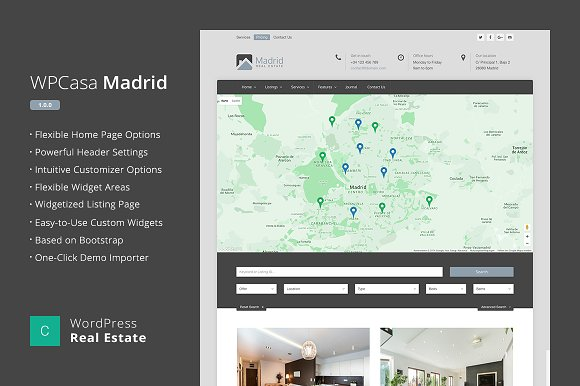 Real Estate WordPress WPCasa Madrid v1.2.0