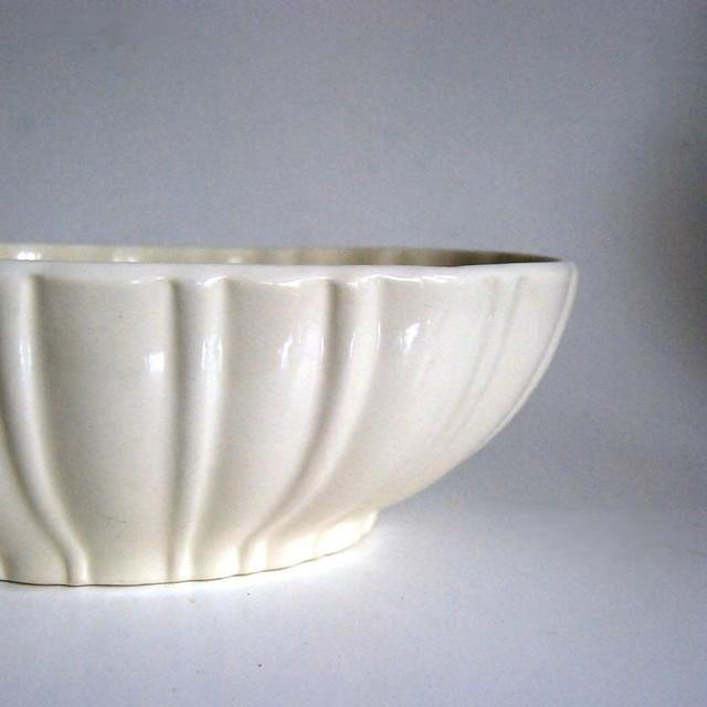 Vintage Haeger Pottery White Planter, No. 40200