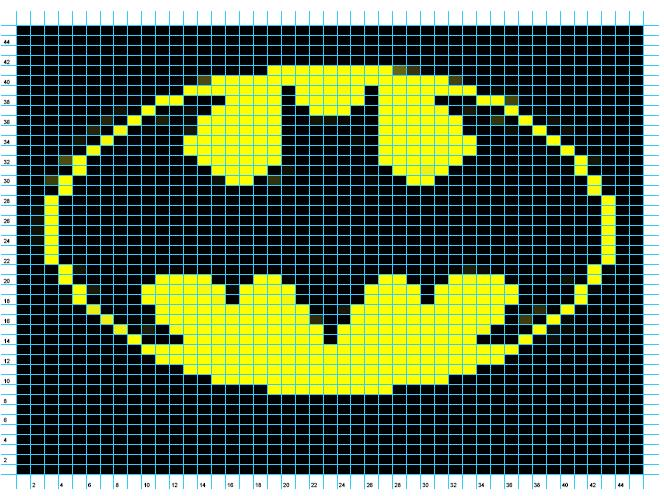 Logo Knitting Pattern : Ravelry batman logo chart pattern by elizabeth thomas