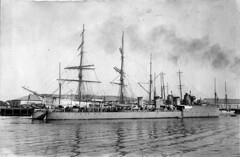 sailing ship, vehicle, ship, windjammer, training ship, full-rigged ship, mast, barquentine, tall ship, watercraft, armored cruiser, battleship, flagship, galleon,