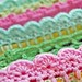 crochet trims on pillowcases... by rose hip...