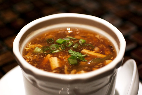 hot & sour soup @ zine