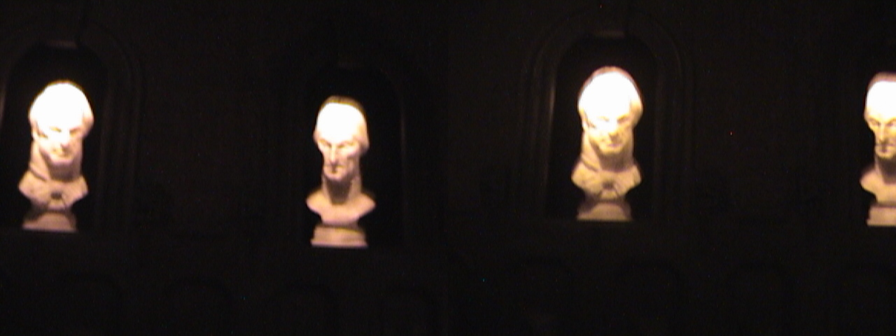 3D, Following eyes on busts, Haunted Mansion, New Orleans Square, Disneyland®, Anaheim, California, 2009.05.20 20:55