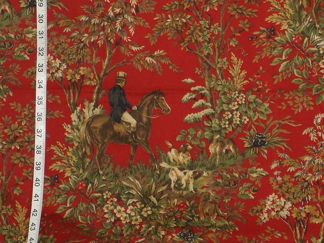 Ralph Lauren Horse Toile Fabric Home Decorating