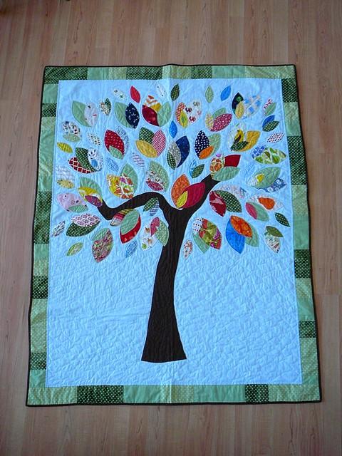 photo Quilt Patterns Applique Tree