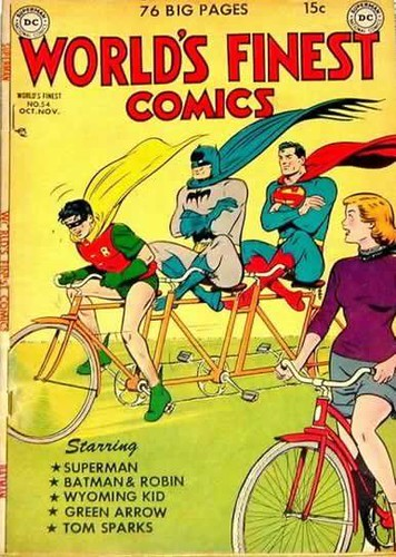 Stoke our super ride and donate to Streetsblog today! [DC's World's Finest Comics #54 cover, Nov. 1951; photo by Pete Laverghetta.]