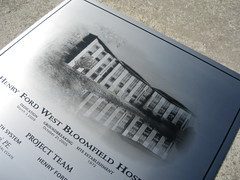 Dedication plaques with etched photos