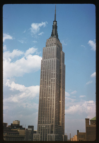 Empire State tower seen from Governor Clinton hotel New York City