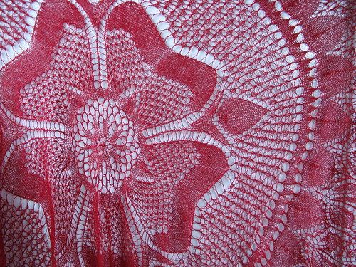 Roses Knitting Centre : Fo olympic rose of england tea shawl knitting