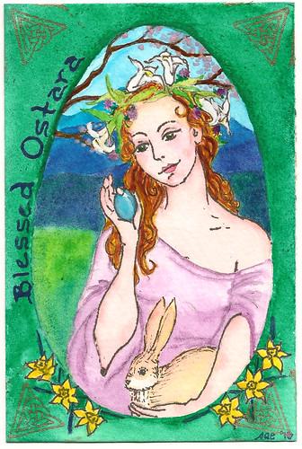 Ostara Postcard