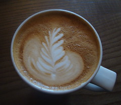 Pretty coffee in Lola and Simon in Hammersmith