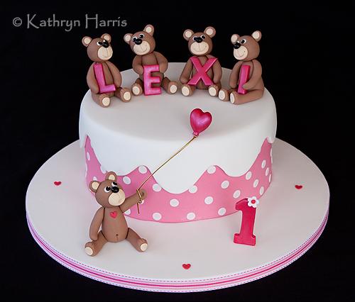 Lexis Teddy Bear Birthday Cake