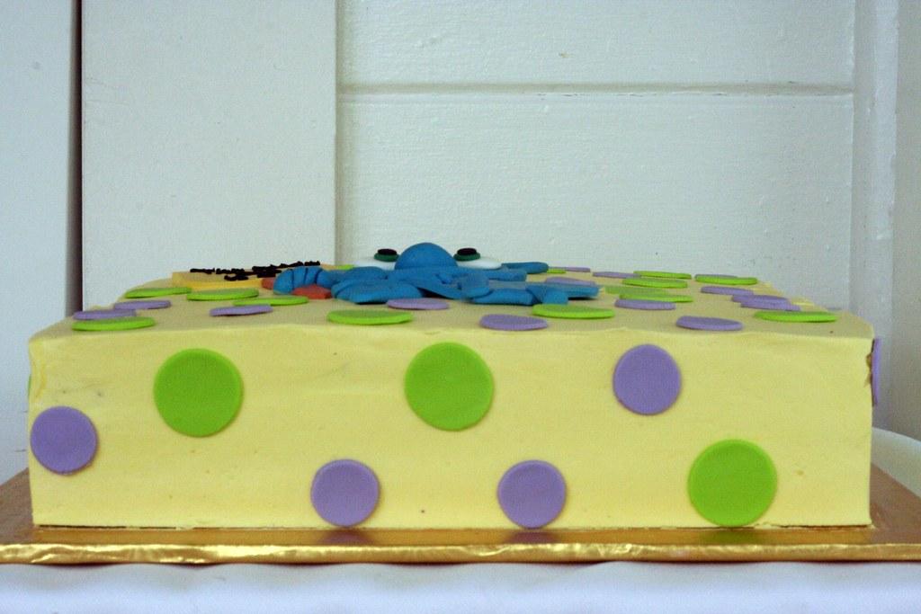 Super Doodle Bug Birthday Cake Polkadots Olga Flickr Funny Birthday Cards Online Overcheapnameinfo