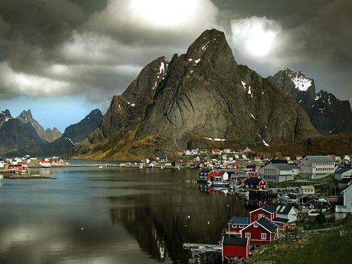 City of  Reine in Lofoten, Northern Norway.