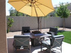 backyard, umbrella, outdoor structure, property, patio,