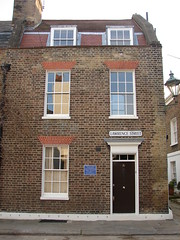 Photo of Chelsea China and Tobias Smollett blue plaque