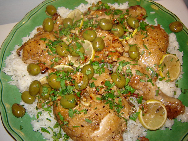 Chicken with Green Olives 2
