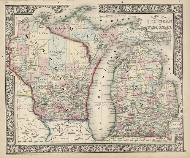 Map Of Michigan And Wisconsin  1866  Flickr  Photo Sharing