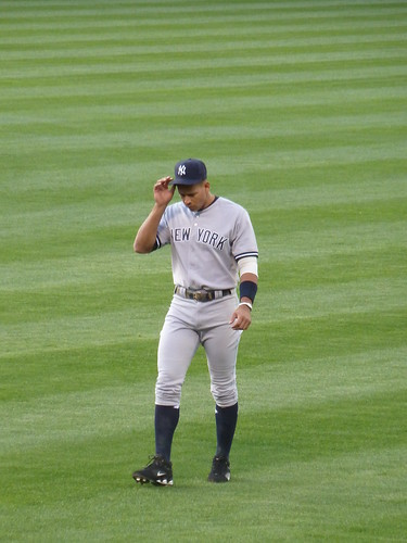 A-Rod warming up