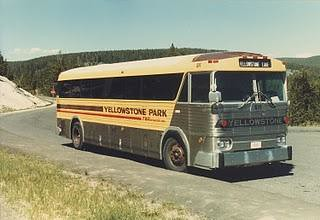 Yellowstone National Park Bus.  Wyoming  1984. by Eddie from Chicago