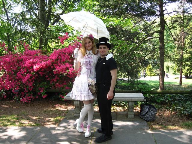 Finely-dressed visors enjoying Sakura Matsuri 2010. Photo by Rebecca Bullene.