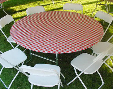 ... Gingham Plastic Elastic Round Table Cover | Flickr - Photo Sharing