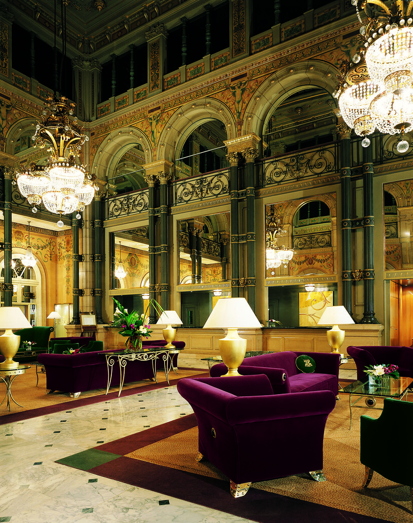 Beautiful And Luxurious Classical Style Lobby At The Hotel