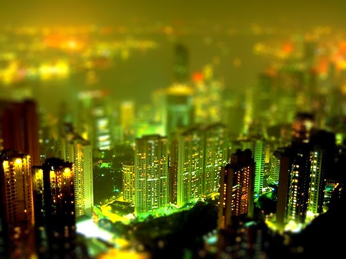 tilt-shifted city