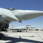 Royal Air Force Typhoon Aircraft in the USA