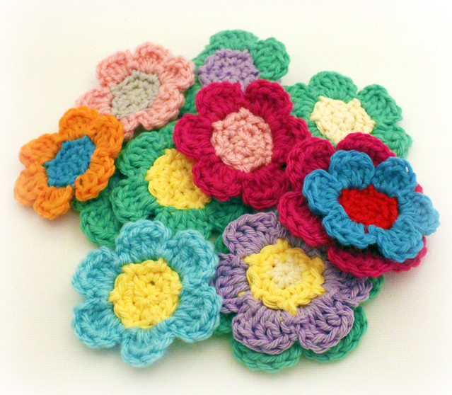 Medium Crochet Flower Pattern : Crocheted Flowers Flickr - Photo Sharing!