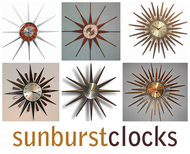 sunburst clocks