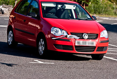volkswagen polo gti(0.0), automobile(1.0), automotive exterior(1.0), wheel(1.0), volkswagen(1.0), vehicle(1.0), volkswagen polo mk5(1.0), city car(1.0), compact car(1.0), bumper(1.0), volkswagen polo(1.0), land vehicle(1.0), vehicle registration plate(1.0), hatchback(1.0),