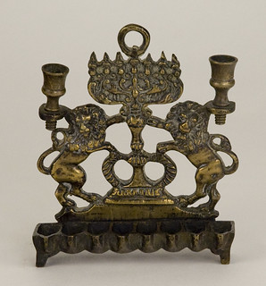 Lamp [67.1.4.1]: Hannukah and Sabbath lamp (Eastern Europe. 19th cent.)